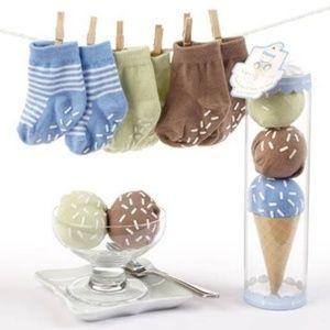 Baby Aspen Sweet Feet Three Scoops Boy Socks Set